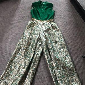 Pants - Vintage jumpsuit! Amazing metallic